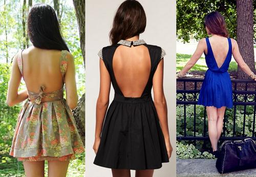 fotos de vestido com decote nas costas