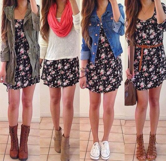 Look vestido florido
