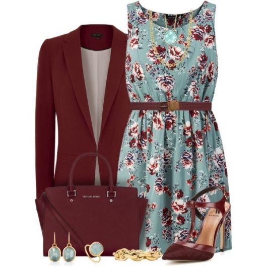 Looks com vestidos floridos no inverno