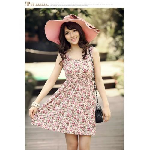 vestido florido curto