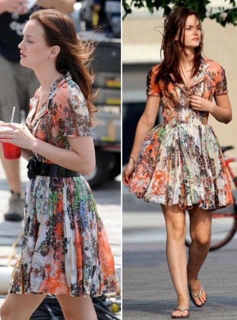 vestido florido rodado