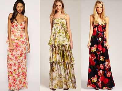 vestidos floridos longos