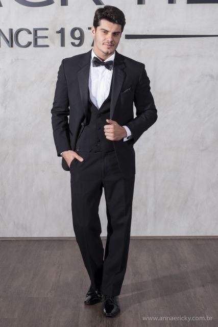black tie terno com colete