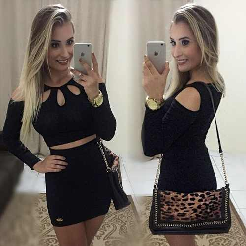 blusa ombro vazado top cropped