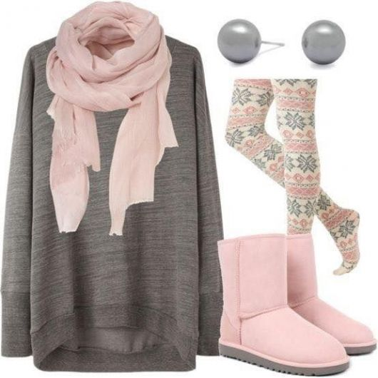 bota ugg rosa