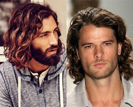 cabelo ondulado masculino comprido