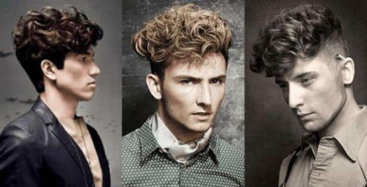 cabelo ondulado masculino undercut com franja