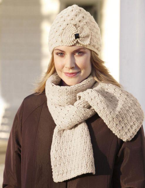 cachecol de tricô combinado com o gorro 43133a918ab