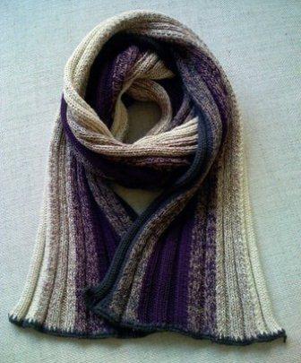 cachecol de tricô degrade tradicional
