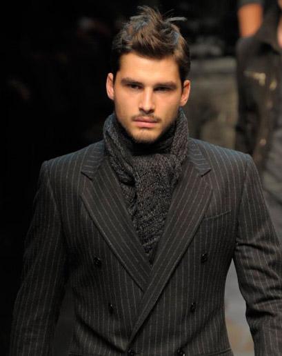 cachecol de tricô homens trabalho
