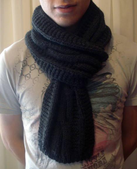 cachecol de tricô homens