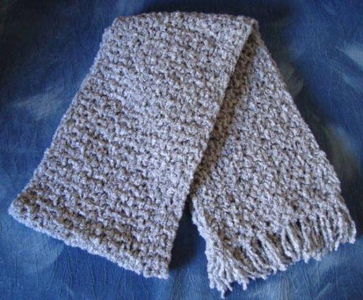 cachecol de tricô masculino pequeno