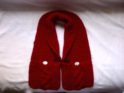 cachecol de tricô modelo com bolso