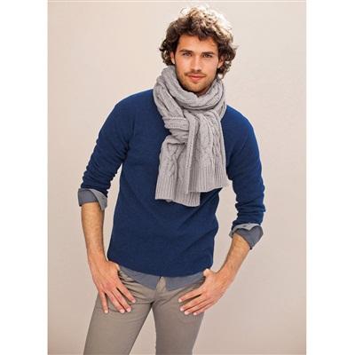 cachecol de tricô para homens
