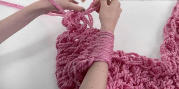 cachecol de tricô passo a passo