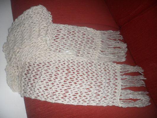 cachecol de tricô que desmancha