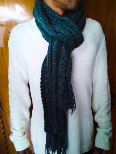 cachecol de tricô tradicional como fazer