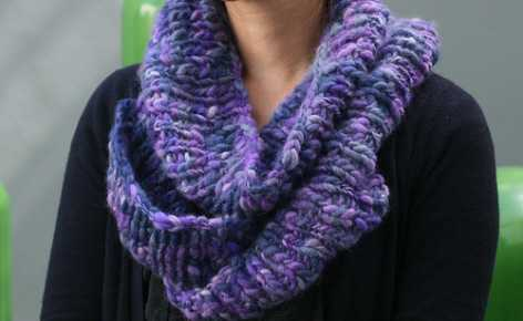cachecol de tricô tradicional modelo