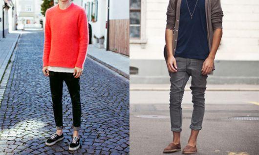 looks masculinos com calça dobrada