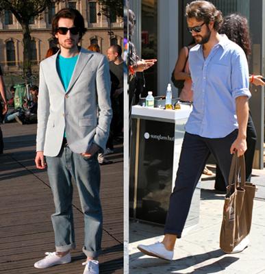 looks masculinos com calça dobrada e estilo