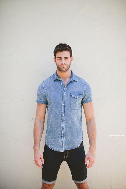 Camisa Jeans Masculina  80 looks para combinar e arrasar! ea948f0beca1d