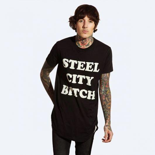 camiseta longline bring me the horizon
