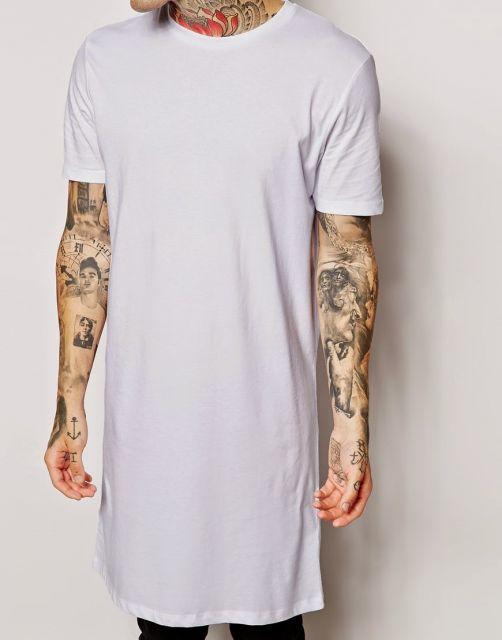 camiseta longline destaque