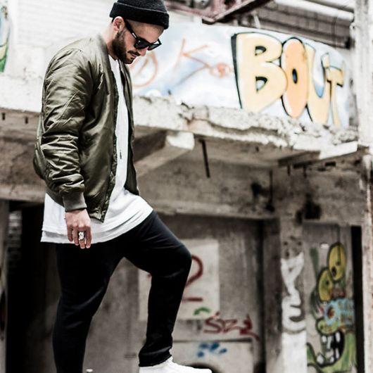camiseta longline jaqueta