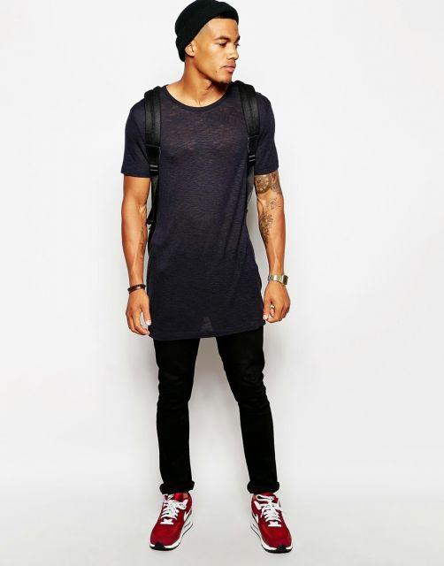 camiseta longline justa