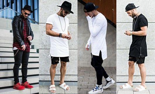 camiseta longline looks