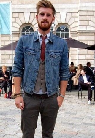 colete social com jaqueta
