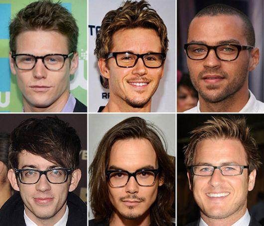 Rosto tipo masculino formato para oculos cada de de
