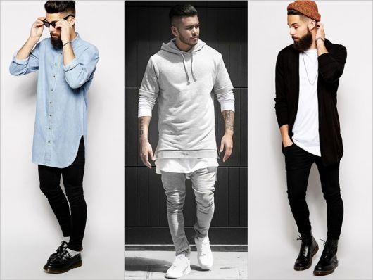estilos de camiseta longline