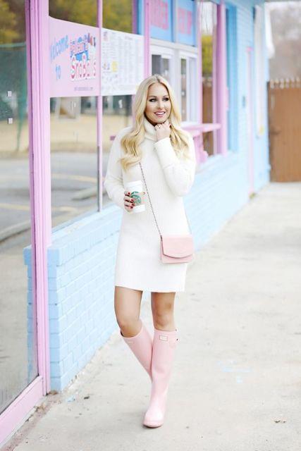 look com vestido de inverno