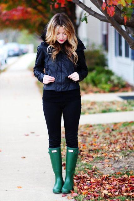 look com sapato verde