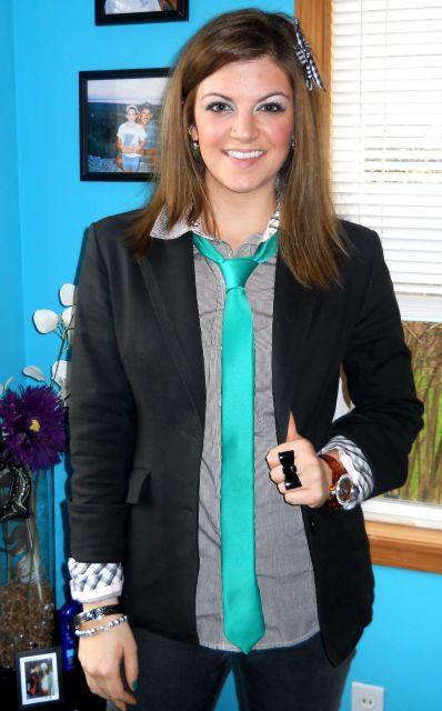 gravata feminina slim