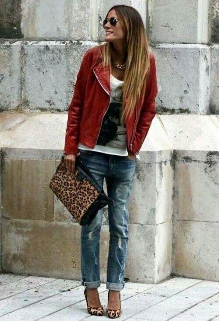 jaqueta com calça boyfriend