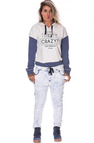 look calça jogger jeans