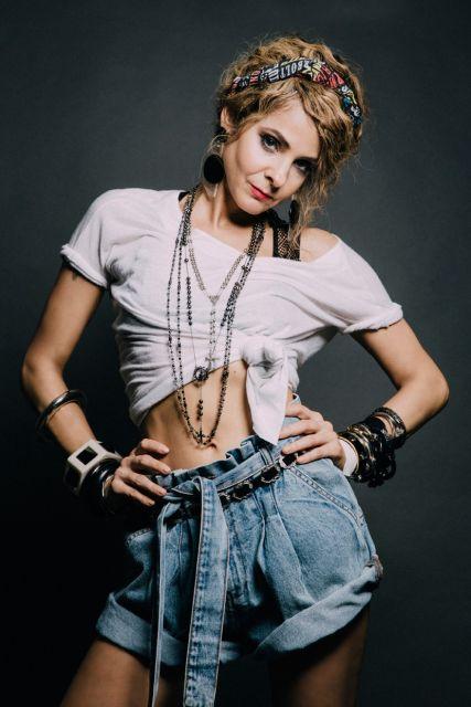 look feminino anos 80