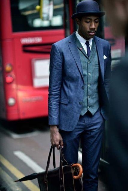 look moderno terno com colete