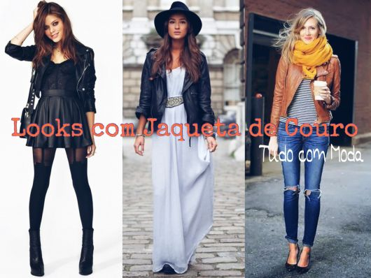looks jaqueta de couro capa