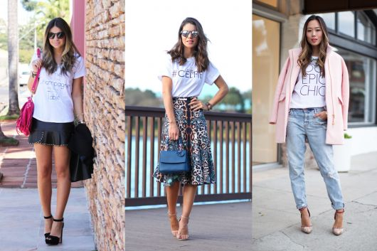 dicas de looks para viajar com camisetas
