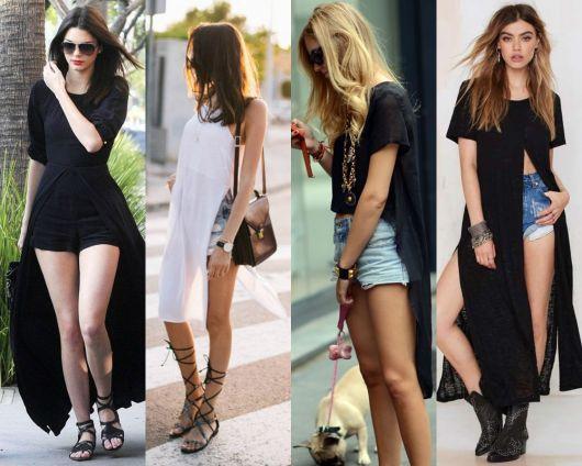 maxi tee com shorts