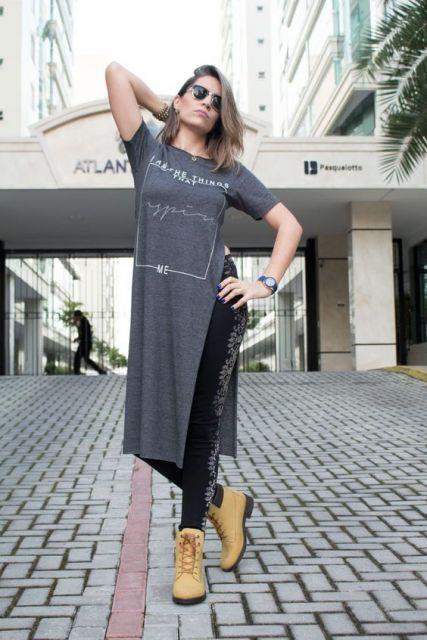 maxi tee legging preta