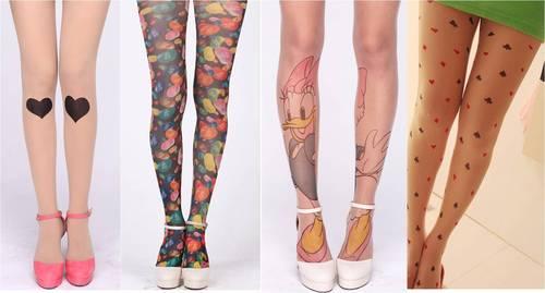 meia calça colorida com desenhos