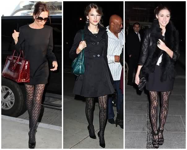meia calça colorida preta com renda