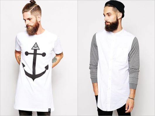 modelos de camiseta longline