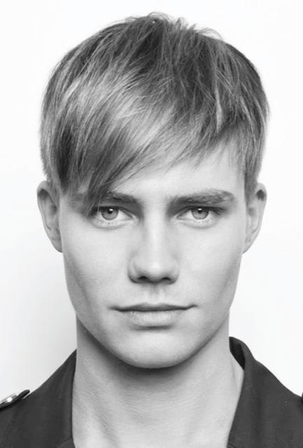 penteados masculinos franja