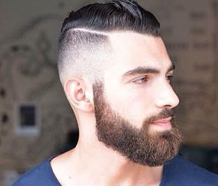 Razor part moderno em complemento com uma barba lenhador