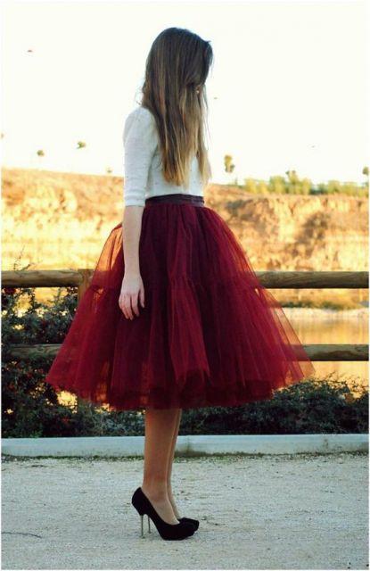 saia vermelha